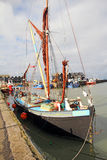 Greta sailing barge in whitstable harbour Royalty Free Stock Photography