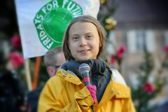 Free Greta Thunberg Meet Italian Activists Against Climate Change Royalty Free Stock Photo - 216262965