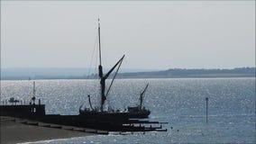 Gretapråm turnerar skeppet stock video