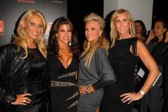 Gretchen Rossi, Lynne Curtin, prise de bec de Tamra, Vicki Gunvalson Photos libres de droits