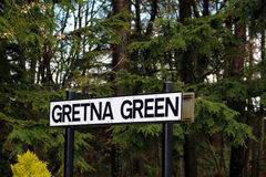 Gretna Green Sign Stock Photo
