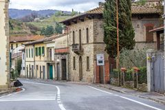 Greve in Chianti in Tuscany. Streets and houses in Greve in Chianti in Tuscany royalty free stock photo