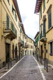 Greve in Chianti in Tuscany. Streets and houses in Greve in Chianti in Tuscany stock images