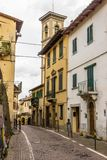 Greve in Chianti in Tuscany. Streets and houses in Greve in Chianti in Tuscany stock photos