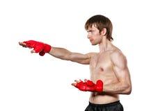 Greve de Kung Fu do lutador diretamente Imagem de Stock