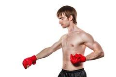 Greve de Kung Fu do lutador diretamente para baixo Foto de Stock