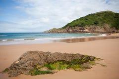 Greve de Lecq Praia, jérsei, ilhas channel Fotografia de Stock