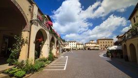 Greve i den huvudsakliga fyrkanten för Chianti, Tuscany Royaltyfri Bild