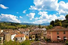 Greve na arquitetura da cidade do Chianti Fotos de Stock