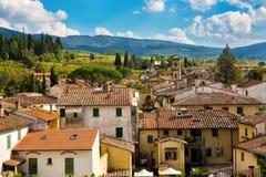 Greve na arquitetura da cidade do Chianti foto de stock royalty free