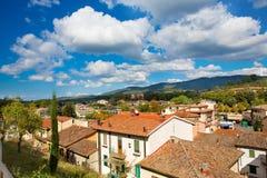 Greve na arquitetura da cidade do Chianti fotografia de stock royalty free