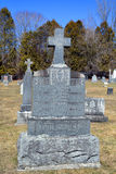 Greve stone in Saint Francois Assise Cemetery Stock Photos