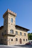 Greve town hall. Exterior of historic town hall building with tower in Greve, Florence, Tuscany, Italy Stock Images