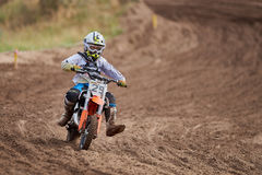 GREVENBROICH, GERMANY - OCTOBER 01, 2016: An unidentified motocross rider fights for qualification Royalty Free Stock Photography
