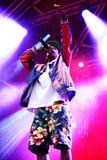GreveSweatshirt (den amerikanska rapparen och medlemmen av höftflygturkollektivet Odd Future) kapacitet på det Heineken Primavera Royaltyfri Bild