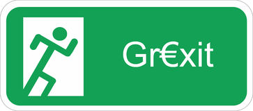 Grexit Images stock
