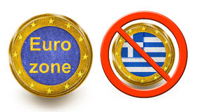 Grexit Euro Zone Royalty Free Stock Image