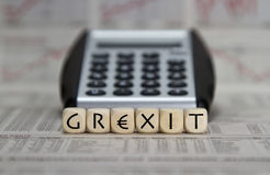 Grexit Stock Image