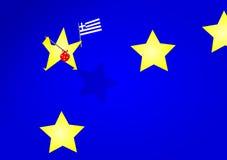 Grexit. Greece leaving european union Royalty Free Stock Photos