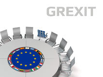 Grexit Royalty Free Stock Images