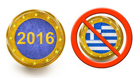 Grexit 2016 Stock Images