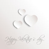 Grey 3d hearts Royalty Free Stock Photos