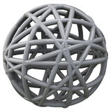 Grey 3d scribble ball Royalty Free Stock Photos