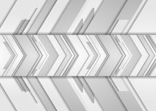 Grey abstract arrows technology background. Vector design Stock Illustration