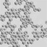 Grey abstract background with geometric pattern. Vector illustration.r vector illustration
