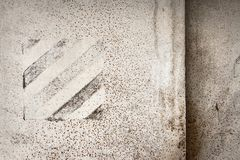 White painted iron old wall. Grey abstract background. White painted iron old wall Royalty Free Stock Photography