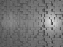 Grey Abstract Cubic 3D textur/bakgrund Royaltyfri Fotografi