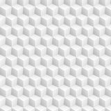 Grey abstract 3d cubes pattern. Vector tech graphic design stock illustration
