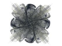 Grey abstract fractal in the form of a floral pattern Royalty Free Stock Images
