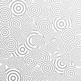 Grey abstract pattern design with rings Royalty Free Stock Images