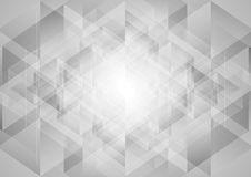 Grey abstract tech low poly triangles background. Vector design Stock Image