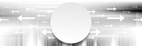 Grey abstract tech vector banner background Royalty Free Stock Images
