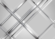 Grey abstract technology metallic background Royalty Free Stock Photography