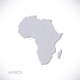 Grey Africa Map Vector Illustration Royalty Free Stock Photography