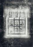 Grey agricolo della finestra Fotografie Stock