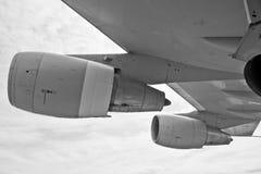 Grey Airplane Turbine Royalty Free Stock Photos