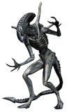 Grey alien creature. 3D render of a grey alien creature vector illustration