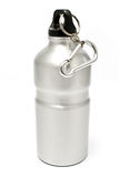Grey aluminum water flask Royalty Free Stock Image