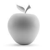 Grey apple isolated on white background. 3d rendering Stock Photos