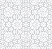 Grey Arabesque Pattern léger Photo stock