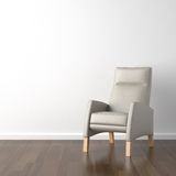 Grey armchair on white Stock Images