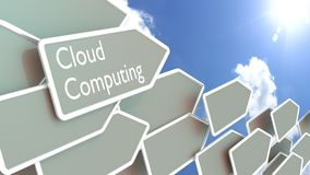 Grey arrows with the words cloud computing Royalty Free Stock Images