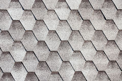 Grey asphalt roofing shingles Royalty Free Stock Photo