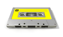 Grey Audio Cassette Tape Photographie stock