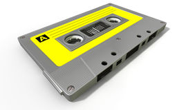 Grey Audio Cassette Tape Lizenzfreies Stockfoto