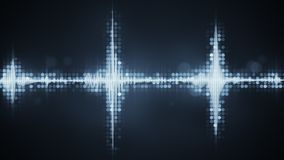 Grey audio waveform equalizer abstract party concept Stock Image
